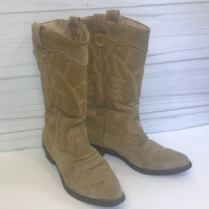 Roxy Giddy Up Suede Leather Boots 7.5